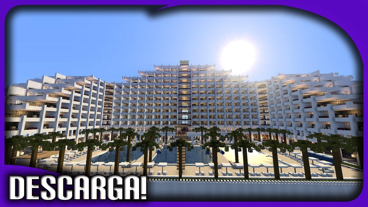 El hotel mas grande y moderno futurista de minecraft for Minecraft moderno