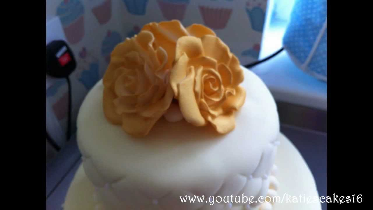 50th Golden Wedding Anniversary Cake