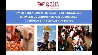 GAIN London event on #QualityPartnerships & #QualityDiets - 5 June 2017