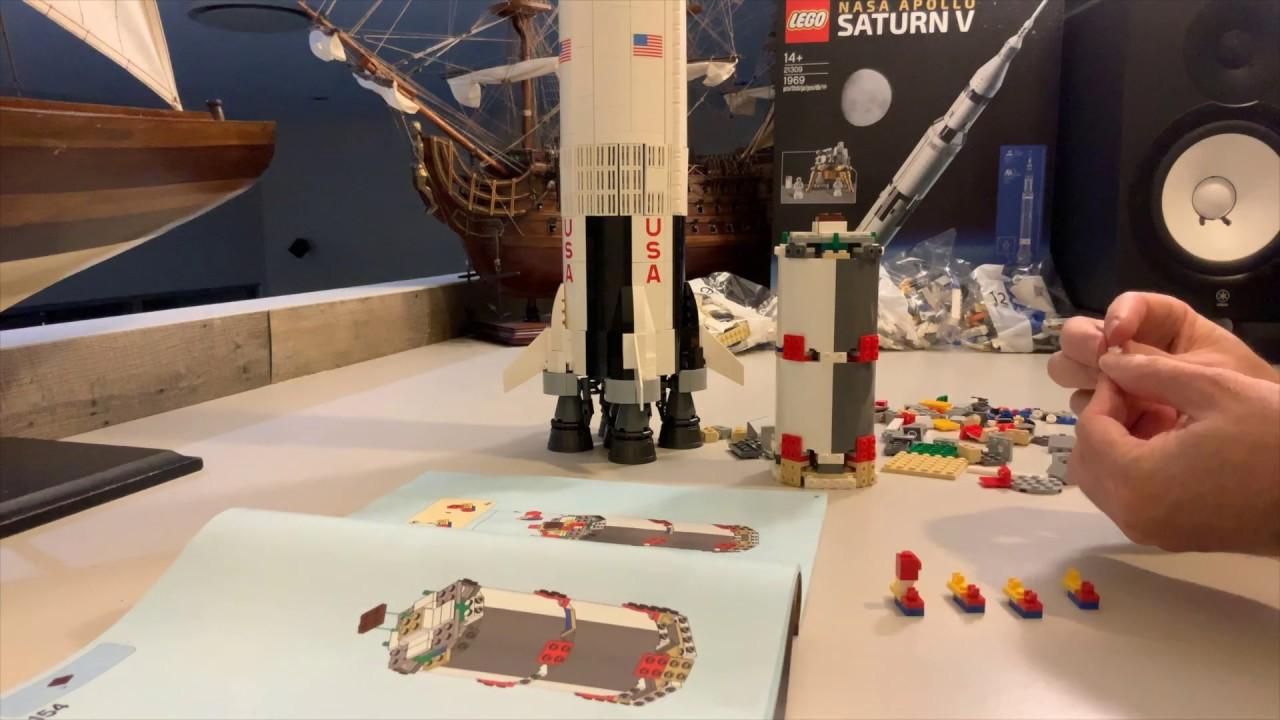 LEGO Saturn V Rocket Time Lapse
