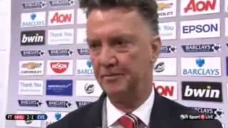 Louis Van Gal Post Match Interview Manchester United 30 Hull City   29 11 2014 HD