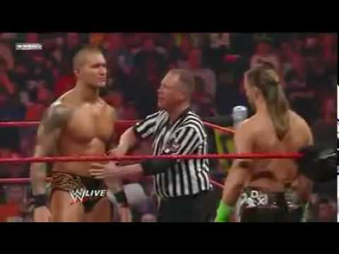 Randy Orton Vs Shawn Michaels Qualifying match for elimination chamber Part 1