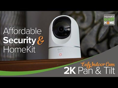 Eufy Indoor Cam 2K Pan & Tilt - Compelling HomeKit Security Camera.