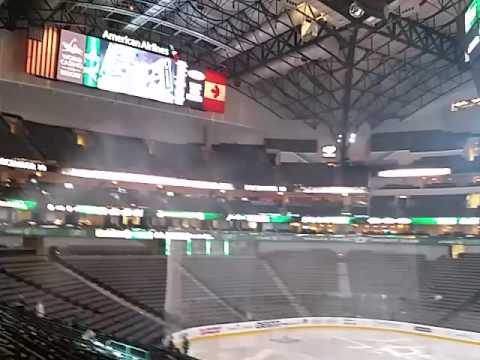 Our $7 seats at American Airlines Center in Section 303, Row K Seats 9 & 10