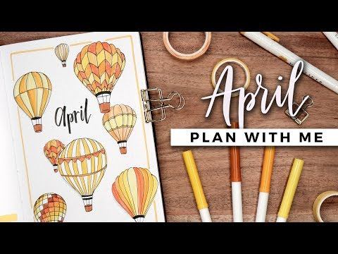 PLAN WITH ME   April 2019 Bullet Journal Setup