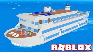 Roblox → BUILDING and TRAVELING on the SEA CRUISE ► Roblox Cruise Ship Tycoon 🎮