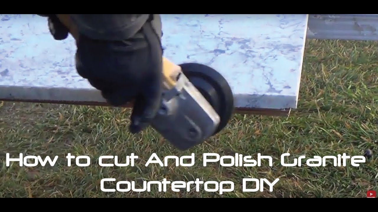 How to Cut And Polish Granite Countertop DIY - YouTube