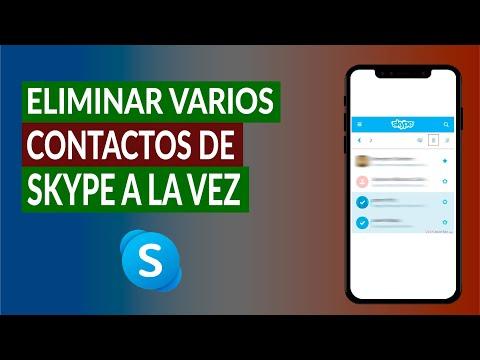 Cómo Eliminar Varios Contactos de Skype a la vez Fácilmente