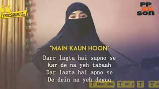 Gambar cover Mai kaun hoon lyrics song from secrate superstar