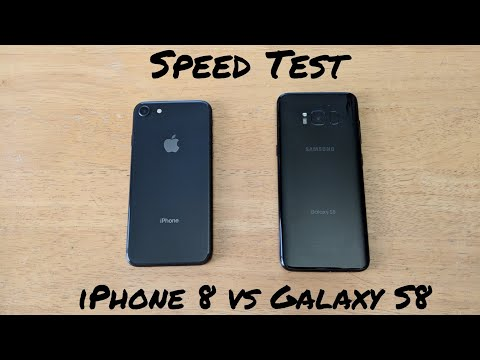 IPhone 8 VS Galaxy S8 Speed Test