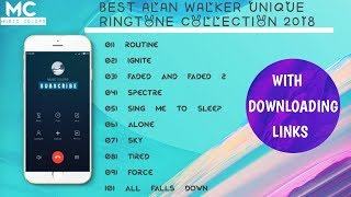 Top 10 ringtones of Alan Walker 2018   Best ringtone collection of Alan Walker 2018   Music Colors