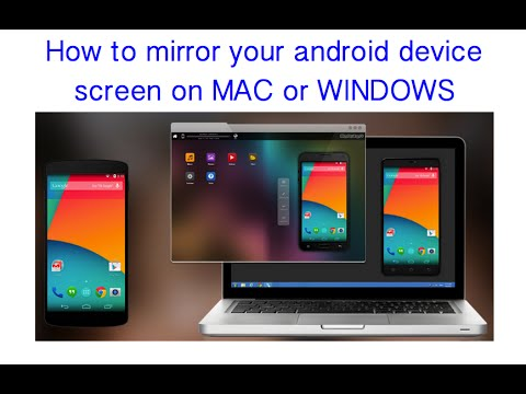 How to mirror android device screen mirroring in to a pc for Mirror your android screen to a pc