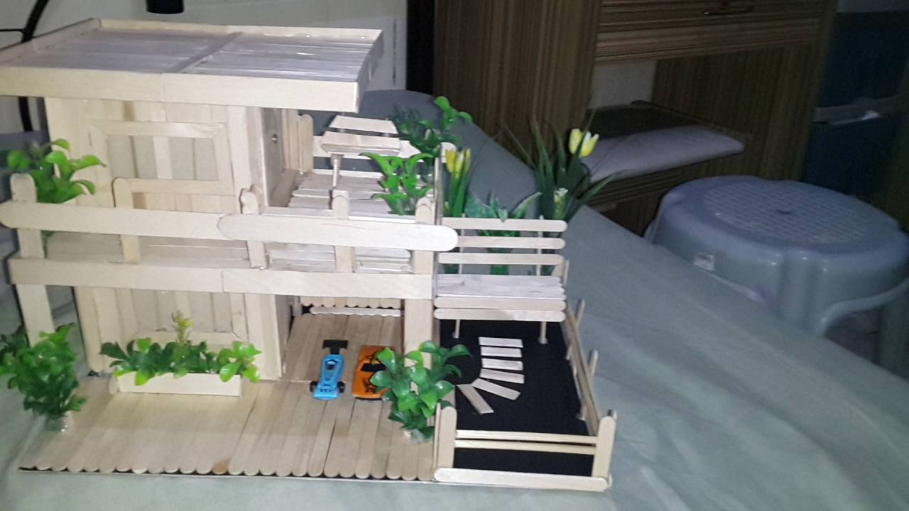 House design using popsicle sticks - House Design Using Popsicle Sticks 22