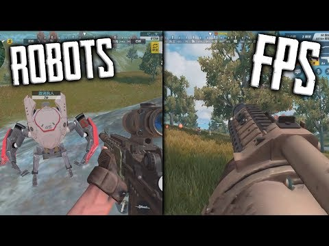 FIRST PERSON MODE GRENADE LAUNCHER GAMER WINNER + ROBOTS IN RULES OF SURVIVAL!