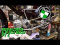 Puch Maxi Ls   Moped Rebuild   Pt 4 ( Mlm And Treats Exhaust, Custom Intake Phbg 21, Pedal Arm Mod)