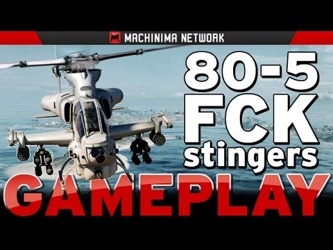 BF3 PS3 Helicopter PRO Pilot 80-5 Wake Island CQ (ALONE)