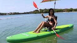 Kayaking Saturn 12' Inflatable SUP Paddle Board.