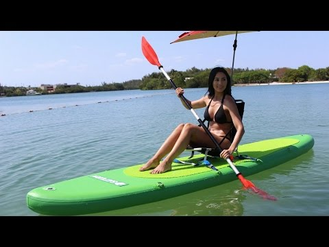 Kayaking Saturn 12' Inflatable SUP Paddle Board.