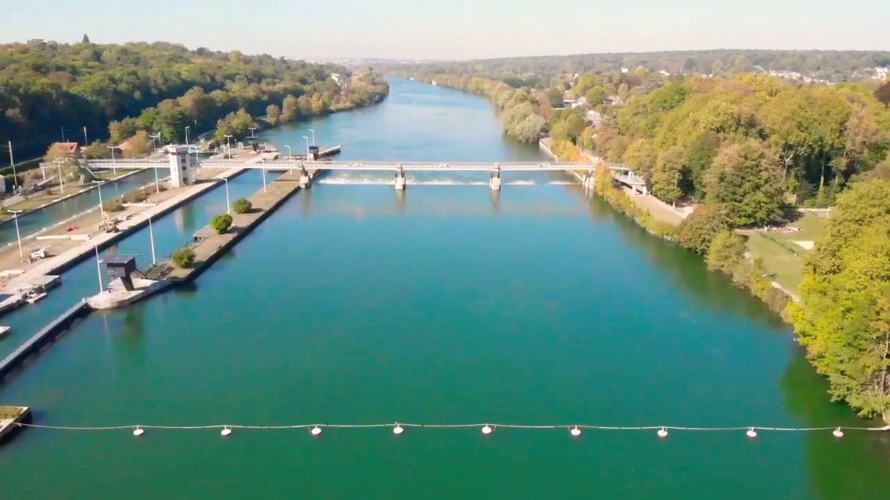 Drone écluse  Evry val-de-seine