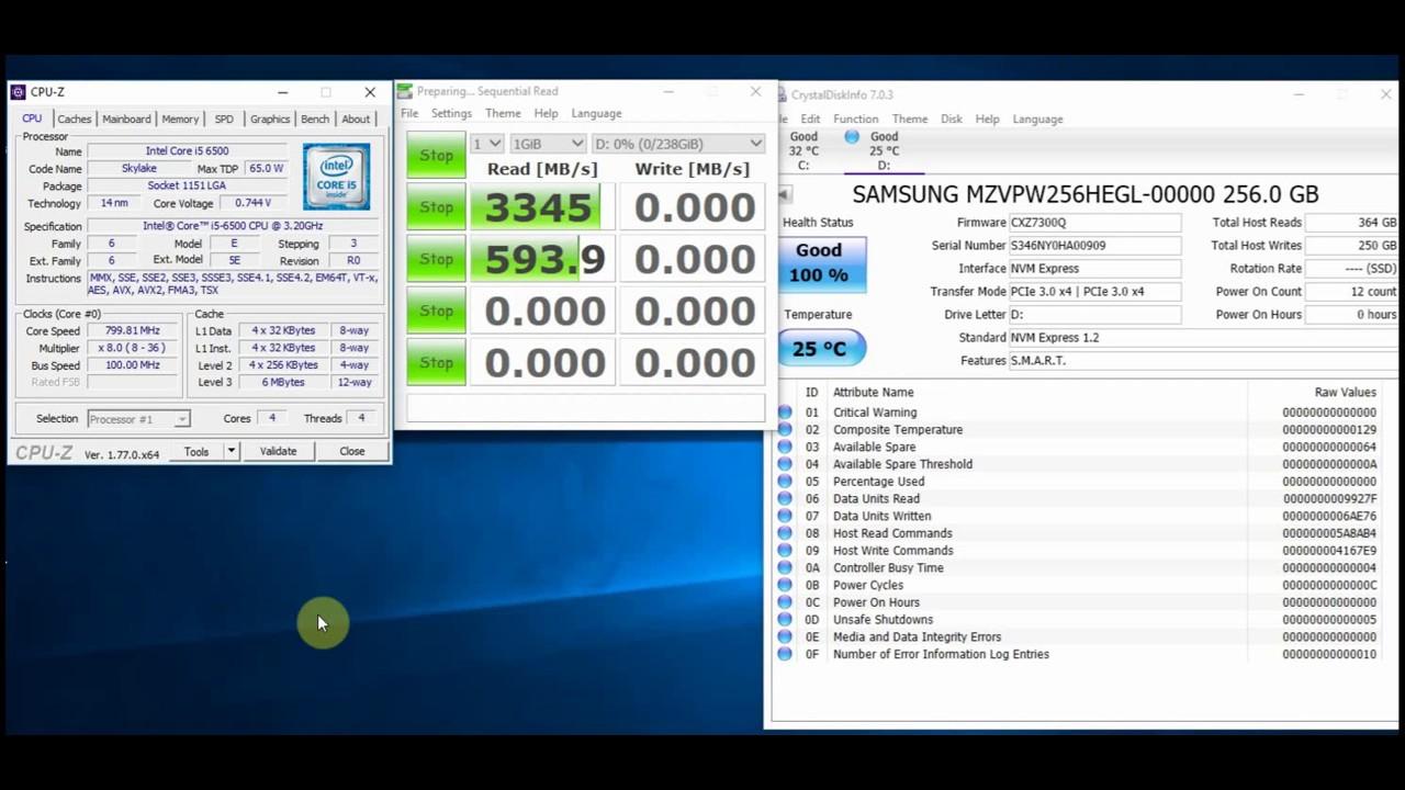 Samsung SM961 Polaris 256GB M.2 2280 PCI-e 3.0 x 4 NVMe SSD OEM Version 960 Pro