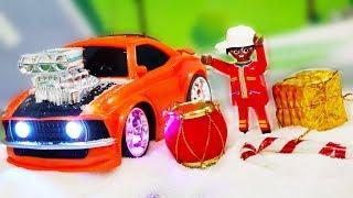 Мультики про машинки. Подарки для детей на Новый Год от Петровича. Украшаем ЛЕГО город