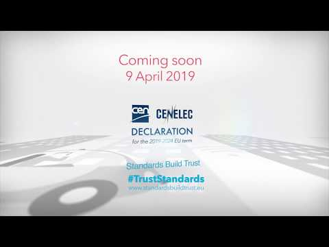 Teaser: CEN-CENELEC Declaration For The 2019-2024 EU Term