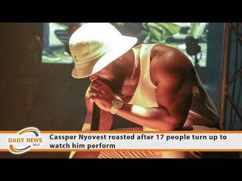 Cassper Nyovest roasted after 17 people turn up to watch him perform
