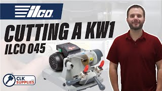 How to cut a KW1 Kwikset Key on the Ilco 045 Key Machine by clksupplies.com