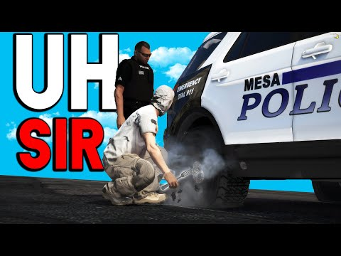 EATING POLICE CAR TIRES! | GTA RP
