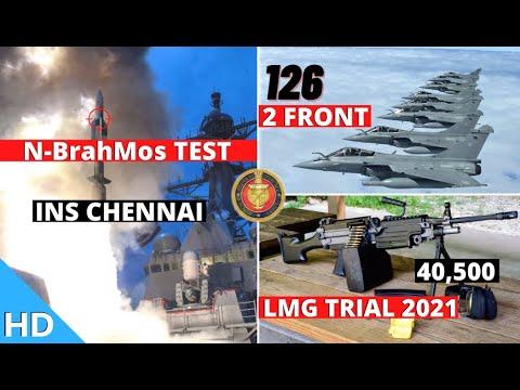 Indian Defence Updates : N-BrahMos Test,40500 LMG Trial,126 Rafale For 2 Front,ADTL MiG-29 Simulator
