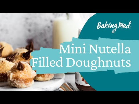 How to Make Mini Nutella Filled Doughnuts | Baking Mad