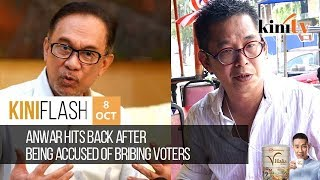 Anwar hits back after being accused of bribing voters  | KiniFlash - Oct 8