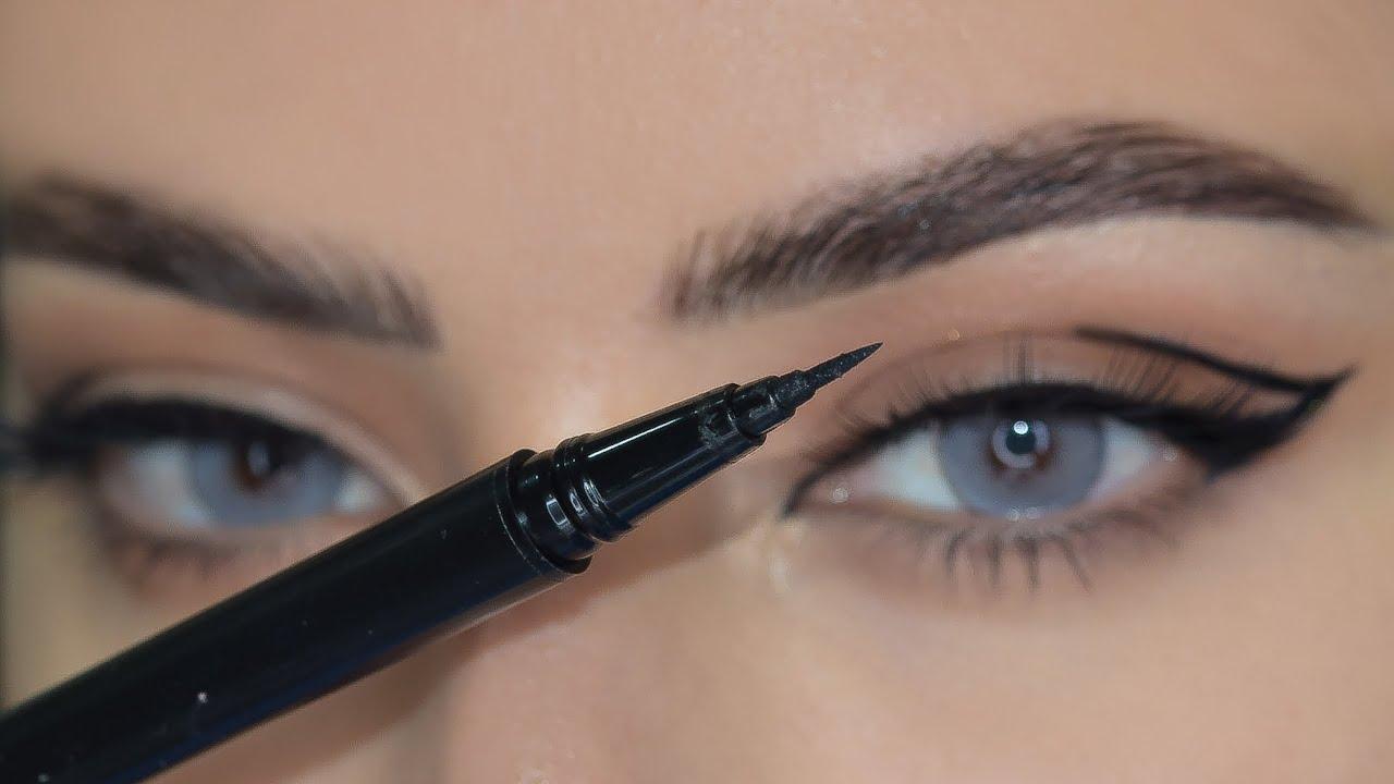 تعليم طريقة رسم الايلينر المزدوج /ايلاينر الهبة |Eyeliner tutorial