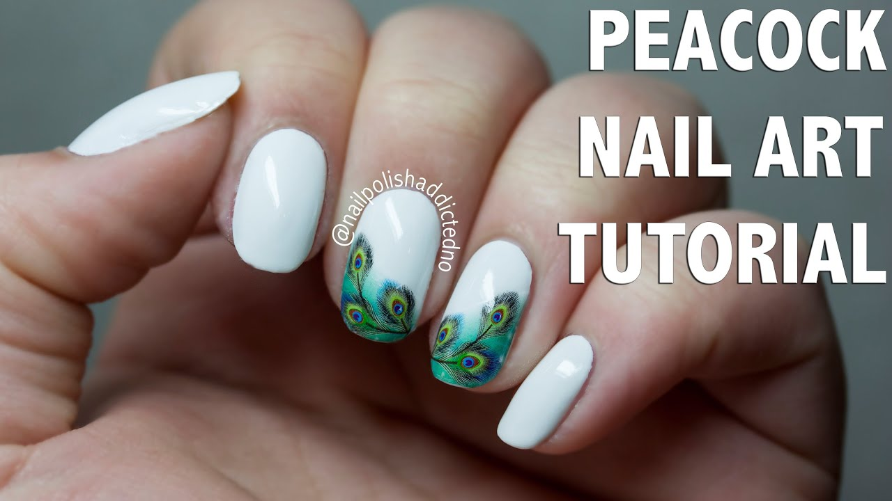 peacock - nail art tutorial