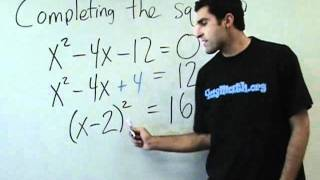 Algebra - Completing the square thumbnail