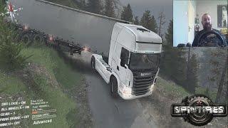Scania sa prikolicom i cisternom u blatu - SPINTIRES Ep7