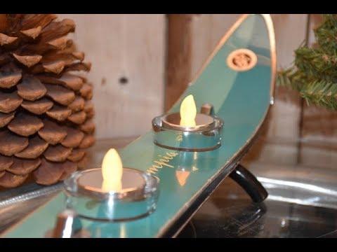 Ski candle holder