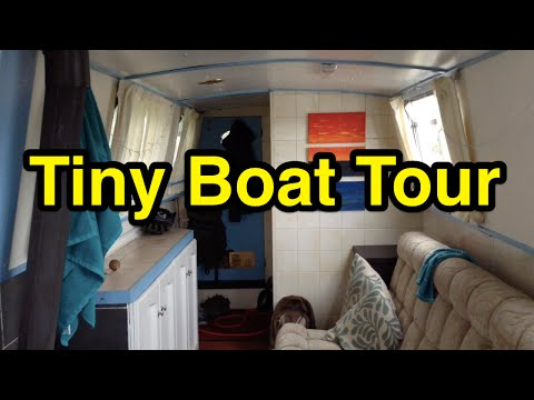 A Tiny Narrowboat Tour! Storage, etc