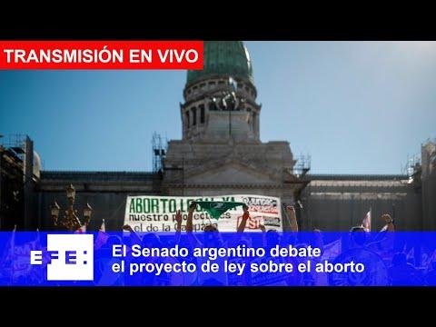 El Senado argentino debate el proyecto de ley sobre el aborto