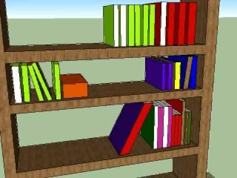 Sketchup mueble para libros para 1 d por francisco for Muebles para libros