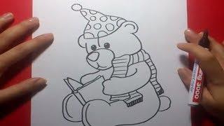Como dibujar un oso de peluche paso a paso 11 | How to draw a teddy bear 11