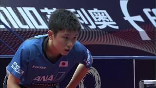 男子シングルス準々決勝 張本智和(日本) VS 丹羽孝希(日本)