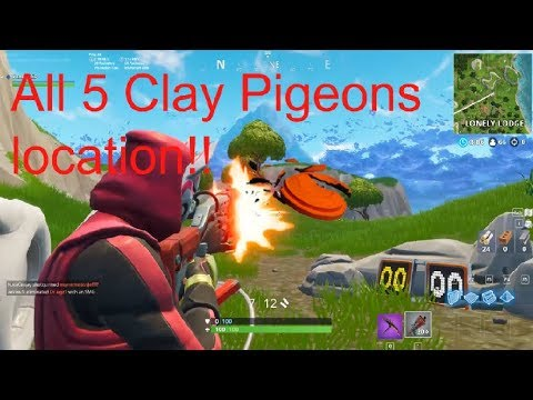 Fortnite All Clay Pigeons Location!!