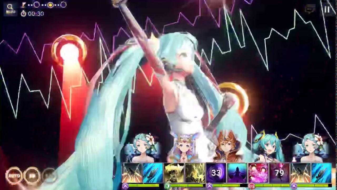OVERHIT (JP) - Hatsune Miku OVERHIT Ver Skills Animations