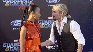 "Zoe Saldana and Marco Perego ""Guardians of the Galaxy Vol 2"" World Premiere"