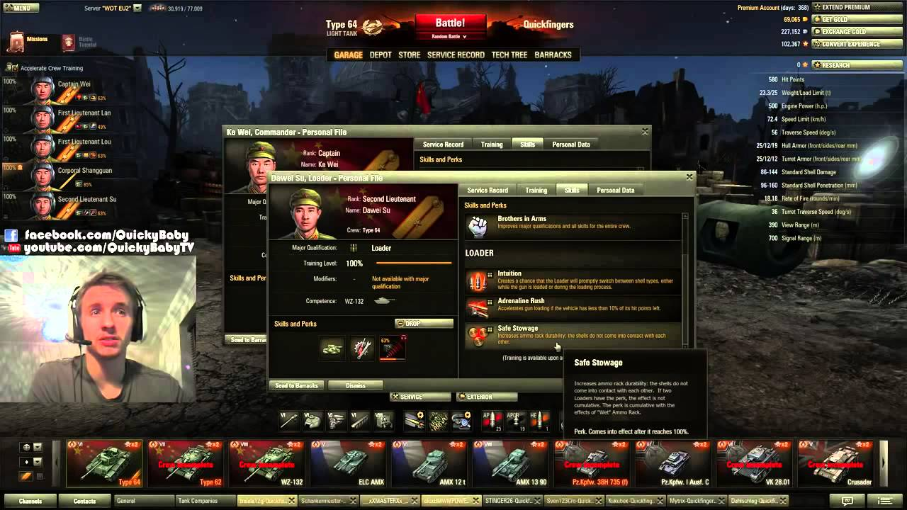 World of Tanks Light Tank Crew Skills Guide - YouTube