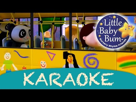 Wheels On The Bus | Karaoke Version With Lyrics HD from LittleBabyBum!