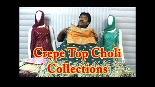 Crepe Top Choli Collections / Readymade Mastani / Rs.1395 - Rs. 3000 Only