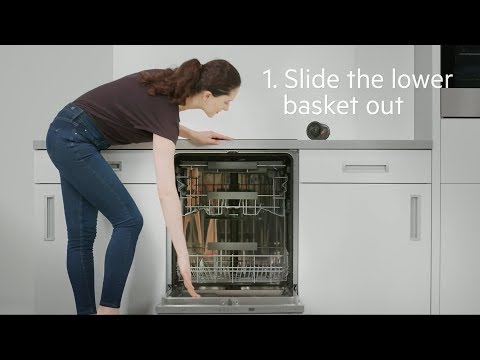 How to change the drain filter of your AEG dishwasher