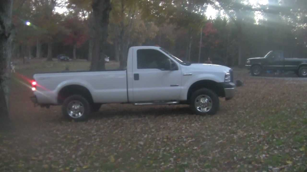 05 6 0 Ford Powerstroke Strait Piped Youtube
